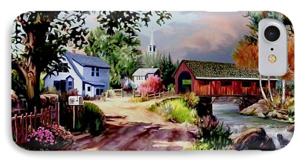 Country Covered Bridge IPhone Case by Ron Chambers