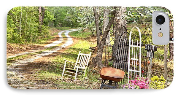 IPhone Case featuring the photograph Country Driveway In Springtime by Gordon Elwell