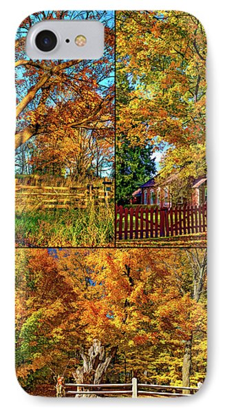Country Fences Collage - Paint IPhone Case by Steve Harrington