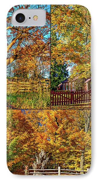 Country Fences Collage IPhone Case by Steve Harrington