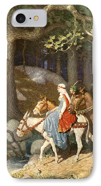 Country Folk Wending Their Way To The Tourney IPhone 7 Case by Newell Convers Wyeth