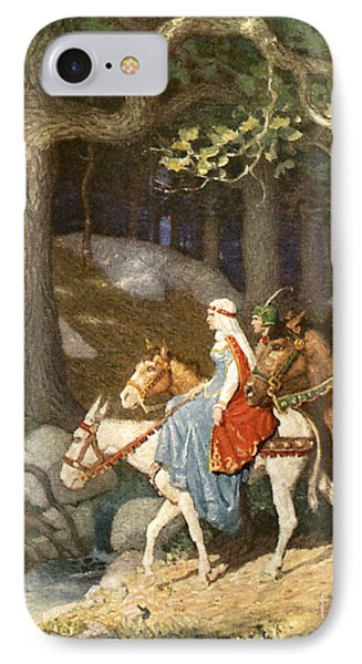 Country Folk Wending Their Way To The Tourney IPhone Case by Newell Convers Wyeth