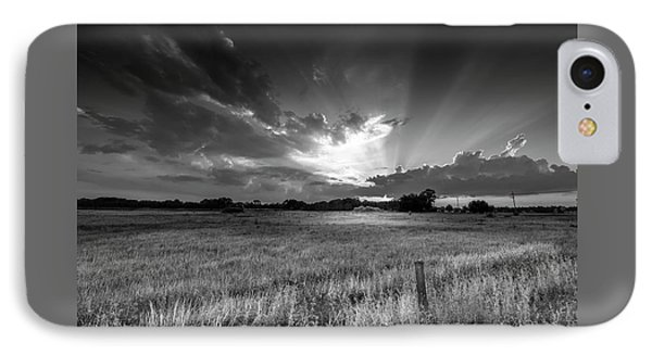 Country Life B/w IPhone Case by Marvin Spates