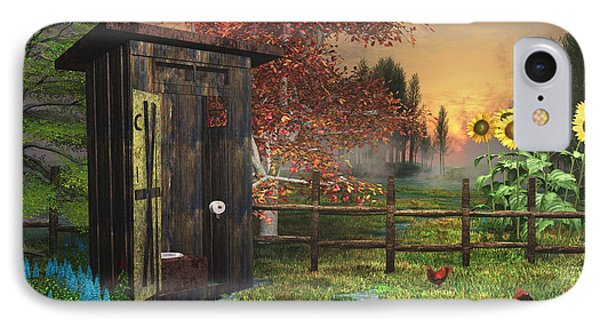 Country Outhouse IPhone Case