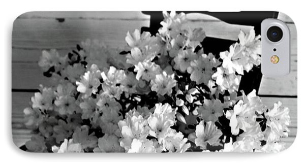 Country Porch In B And W IPhone Case by Sherry Hallemeier
