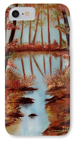 IPhone Case featuring the painting Country Reflections by Leslie Allen