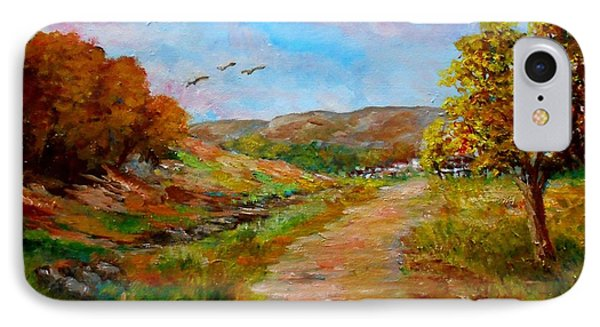 Country Road 2 Phone Case by Constantinos Charalampopoulos