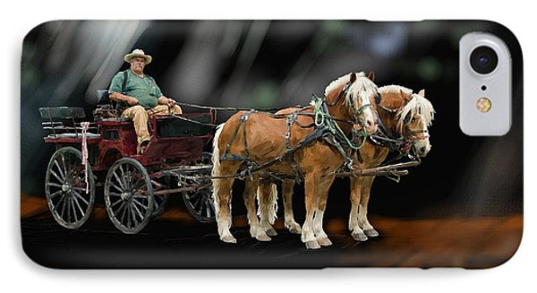 Country Road Horse And Wagon IPhone Case by Debra Baldwin