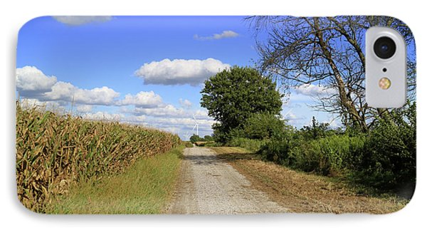 IPhone Case featuring the photograph Country Road In Benton County, Indiana by Scott Kingery