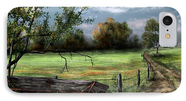 Country Road IPhone Case by Ron Grafe