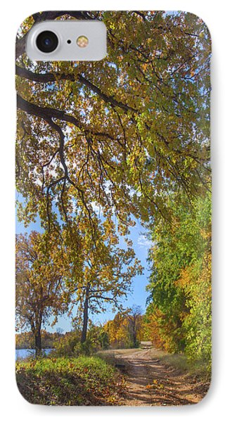 Country Road IPhone Case by Tim Fitzharris