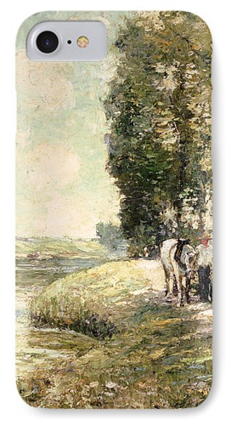 Country Road To Spuyten IPhone Case by Ernest Lawson