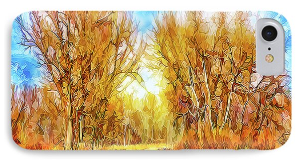 Country Road Wandering IPhone Case by Joel Bruce Wallach