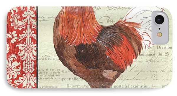 Country Rooster 2 IPhone Case by Debbie DeWitt