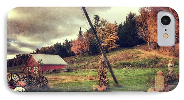 Country Scene In Autumn IPhone Case by Joann Vitali