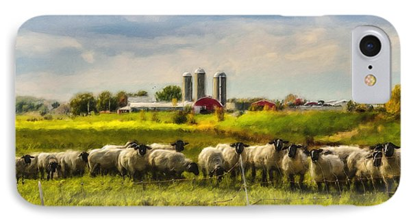 Country Sheep IPhone Case by Ken Morris
