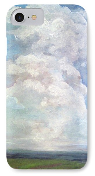 IPhone Case featuring the painting Country Sky - Painting by Linda Apple