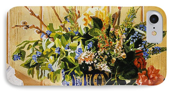 Country Spring Still Life IPhone Case by David Lloyd Glover