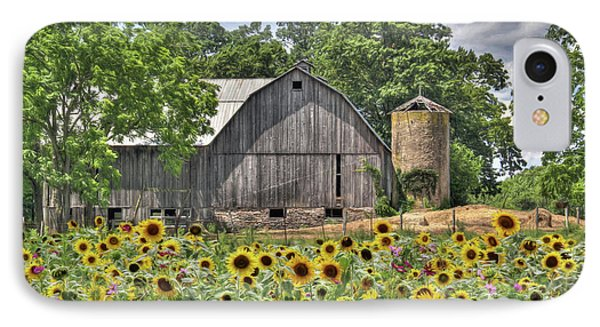 Country Sunflowers IPhone Case by Lori Deiter