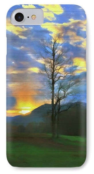 Country Sunset On Wood IPhone Case by Dan Sproul