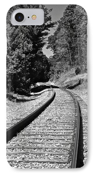 Country Tracks Black And White IPhone Case