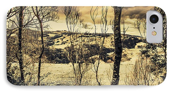 Country Victoria Winter Scene IPhone Case by Jorgo Photography - Wall Art Gallery