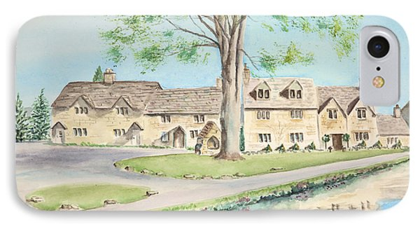 IPhone Case featuring the painting Countryside Cottages by Elizabeth Lock