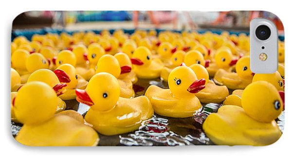 County Fair Rubber Duckies IPhone Case by Todd Klassy