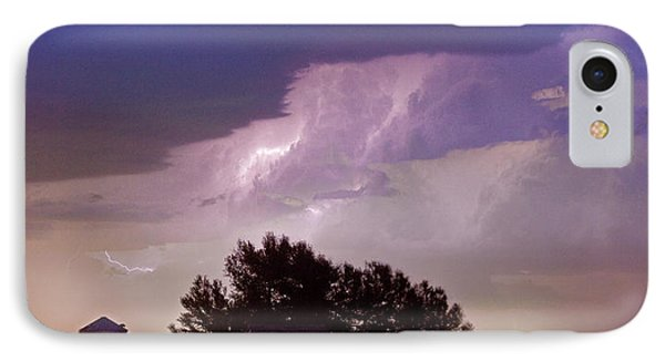 County Line Northern Colorado Lightning Storm Panorama IPhone Case by James BO  Insogna