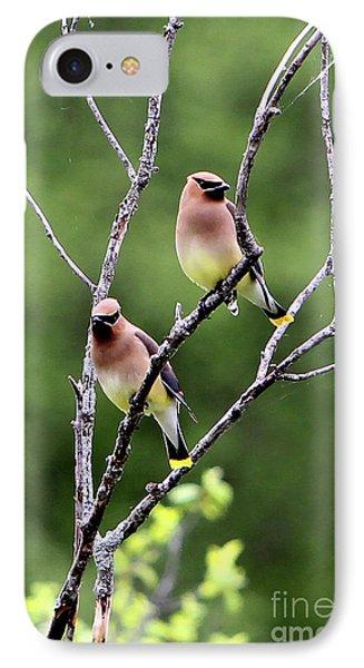 Couple Cedar Waxwing Phone Case by Marle Nopardi