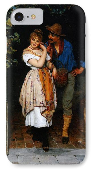 Couple Courting IPhone Case by Eugen von Blaas