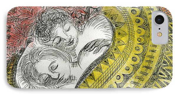 Couple Dreaming IPhone Case by Sheryl Karas