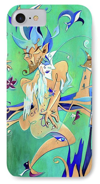 Couple In Love Dancing - Erotic Tango Music IPhone Case by Arte Venezia