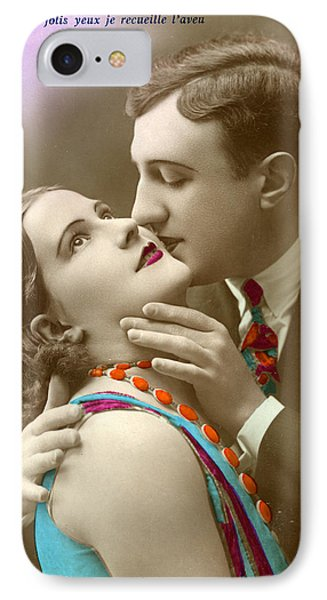 Couple Kissing IPhone Case by French School