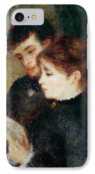 Couple Reading IPhone Case by Pierre Auguste Renoir