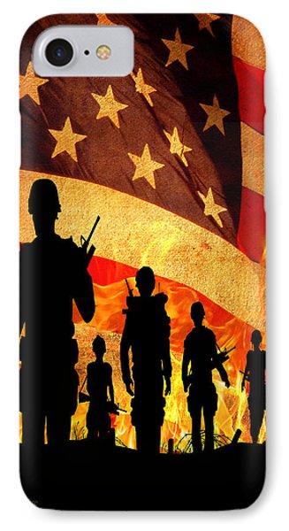 Courage Under Fire IPhone Case by Mark Allen