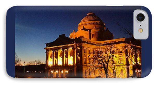 Courthouse At Night IPhone Case by Christina Verdgeline