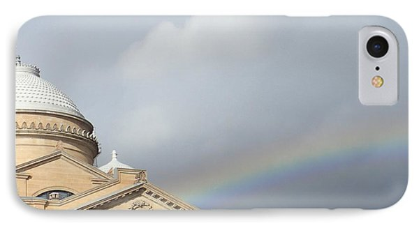 Courthouse Rainbow IPhone Case by Christina Verdgeline