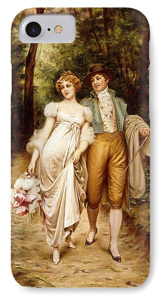 Courtship IPhone Case by Joseph Frederic Charles Soulacroix