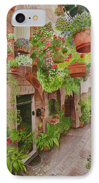 Courtyard Phone Case by C Wilton Simmons Jr