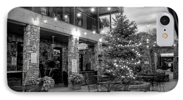 Courtyard In Blue Ridge In Black And White IPhone Case by Greg Mimbs
