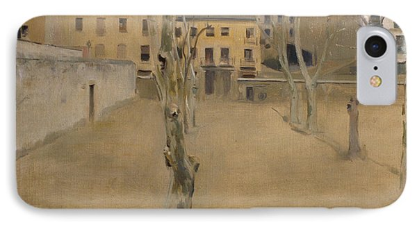 Courtyard Of The Old Barcelona Prison IPhone Case by Ramon Casas