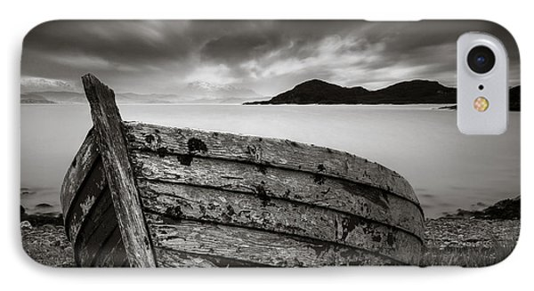 Cove Boat IPhone Case by Dave Bowman