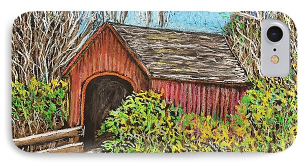 Covered Bridge IPhone Case by Reb Frost