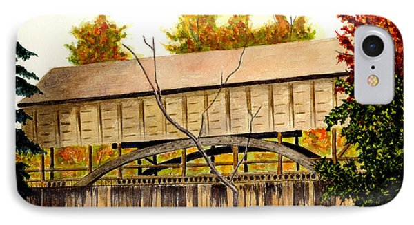 Covered Bridge - Mill Creek Park IPhone Case by Michael Vigliotti