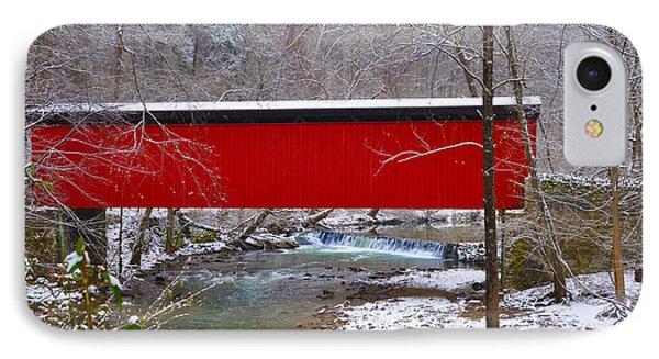 Covered Bridge Along The Wissahickon Creek IPhone Case