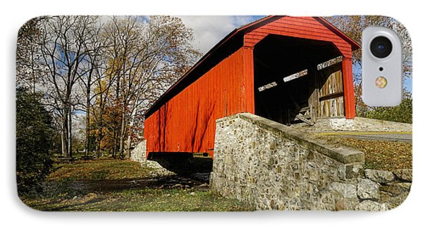 Covered Bridge At Poole Forge IPhone Case