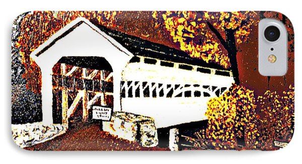 Covered Bridge At Valley Forge Pennsylvania IPhone Case by Merton Allen