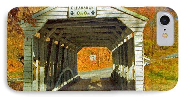 IPhone Case featuring the photograph Covered Bridge Impasto Oil by David Zanzinger