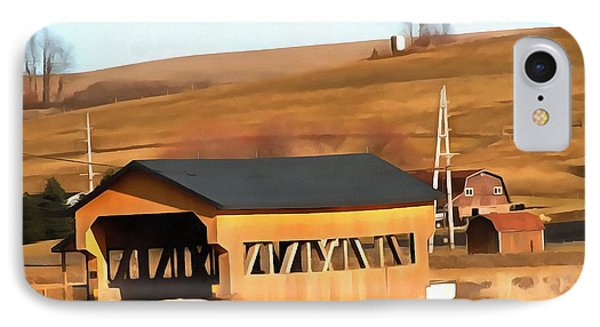 Covered Bridge In Amish Country Ohio IPhone Case by Dan Sproul